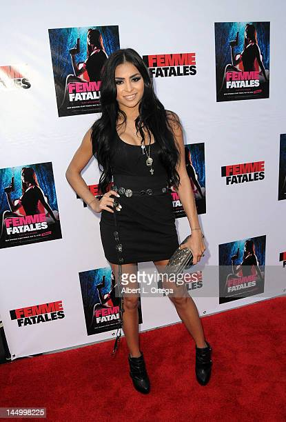 Actress Michelle Maylene arrives for the Screening For Cinemax's Femme Fatales 2nd Season held at ArcLight Hollywood on May 21 2012 in Hollywood...