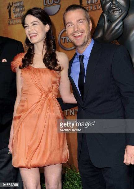 Actress Michelle Monaghan and actor Chris O'Donnell pose during the 16th annual Screen Actors Guild awards nomination announcements held at the...