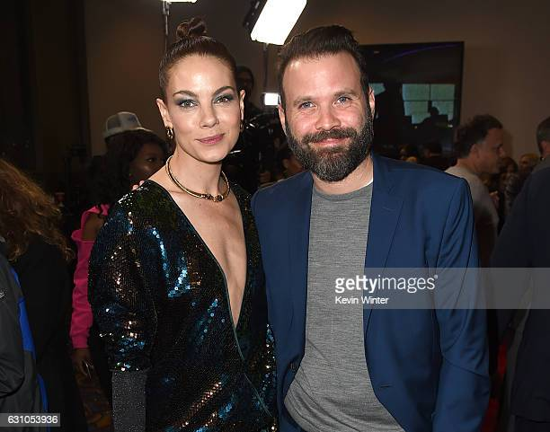 Actress Michelle Monaghan and director Baran Odar arrive at the premiere of Open Road Films' Sleepless at the Regal LA Live Stadium 14 Theatre on...