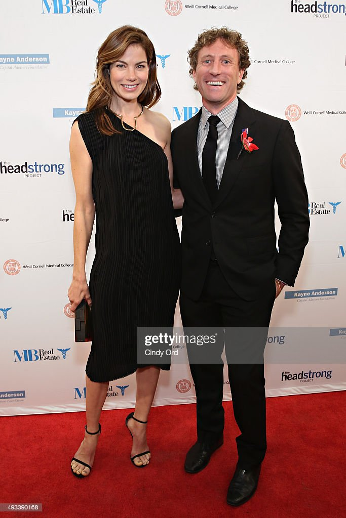 Actress Michelle Monaghan and Founder and Executive Director of The Headstrong Project, Zach Iscol attend The Headstrong Project's 3rd Annual Words of War Event at One World Trade Center on October 19, 2015 in New York City.