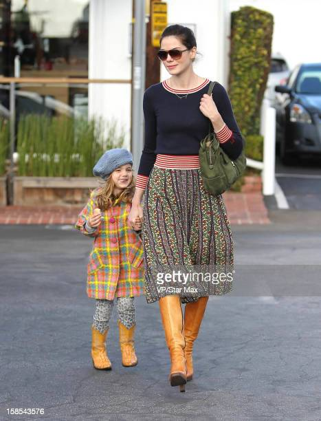 Actress Michelle Monaghan and her daughter Willow Katherine White as seen on December 18 2012 in Los Angeles California
