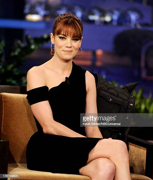 Actress Michelle Monaghan appears on the Tonight Show With Jay Leno at NBC Studios on September 22 2011 in Burbank California