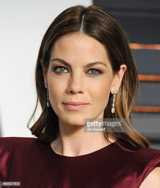 Actress Michelle Monaghan arrives at the 2015 Vanity Fair Oscar Party Hosted By Graydon Carter at Wallis Annenberg Center for the Performing Arts on...