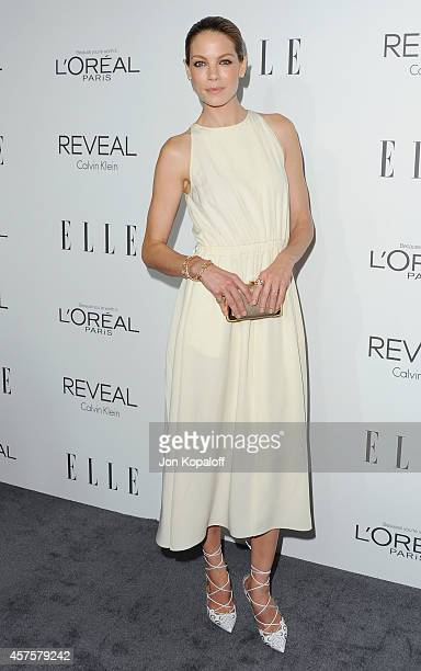 Actress Michelle Monaghan arrives at the 21st Annual ELLE Women In Hollywood Awards at Four Seasons Hotel Los Angeles at Beverly Hills on October 20...