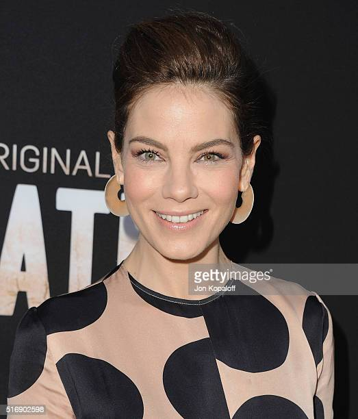 Actress Michelle Monaghan arrives at the Premiere Of Hulu's 'The Path' at ArcLight Hollywood on March 21 2016 in Hollywood California