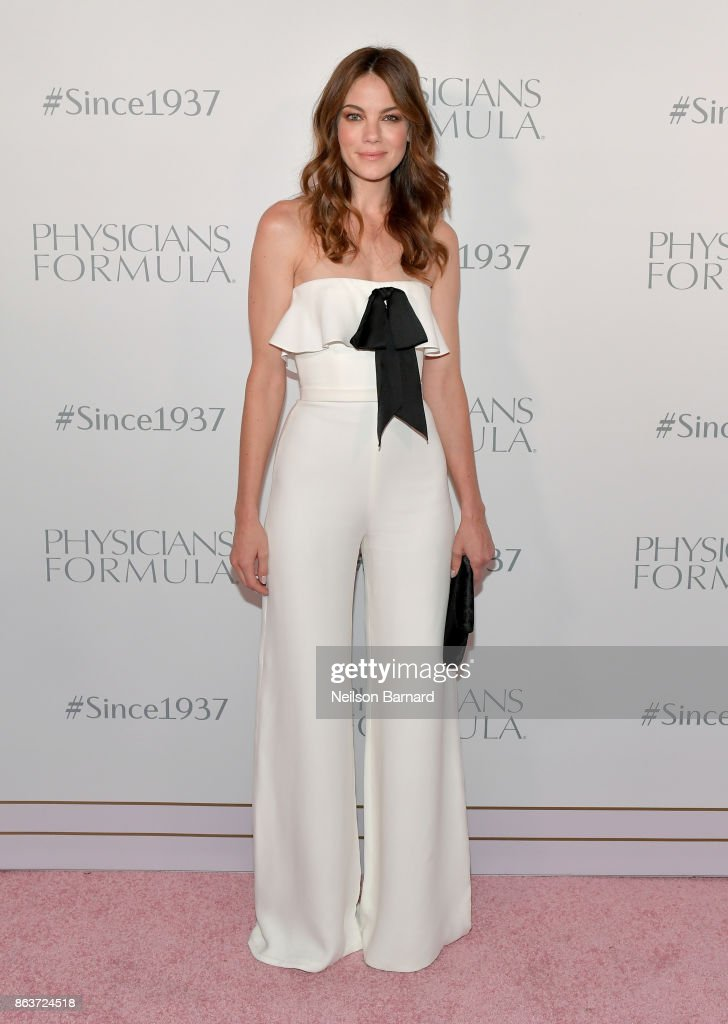Actress Michelle Monaghan at Physicians Formula's 80th Anniversary at Beauty & Essex on October 19, 2017 in Los Angeles, California.