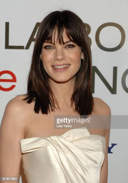 Actress Michelle Monaghan attends Made of Honour premiere at Capitol cinema on May 21, 2008 in Madrid, Spain.