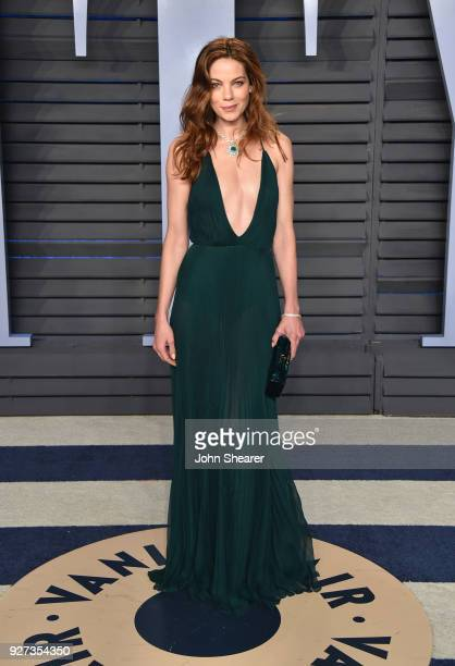 Actress Michelle Monaghan attends the 2018 Vanity Fair Oscar Party hosted by Radhika Jones at Wallis Annenberg Center for the Performing Arts on...