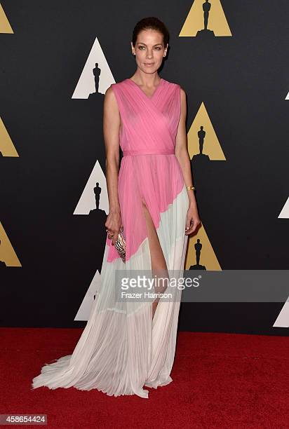 Actress Michelle Monaghan attends the Academy Of Motion Picture Arts And Sciences' 2014 Governors Awards at The Ray Dolby Ballroom at Hollywood...