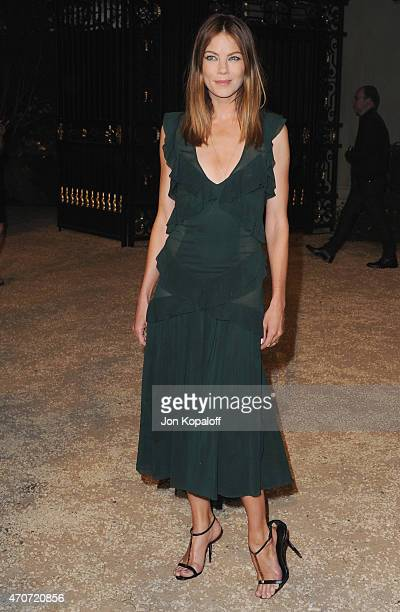 """Actress Michelle Monaghan attends the Burberry """"London in Los Angeles"""" event at Griffith Observatory on April 16, 2015 in Los Angeles, California."""