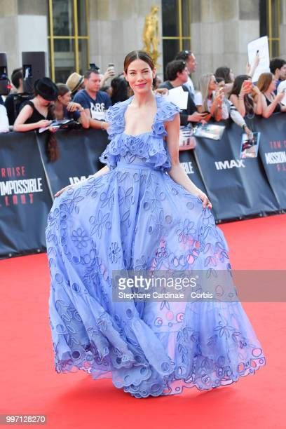 Actress Michelle Monaghan attends the 'Mission Impossible Fallout' Global Premiere in Paris on July 12 2018 in Paris France