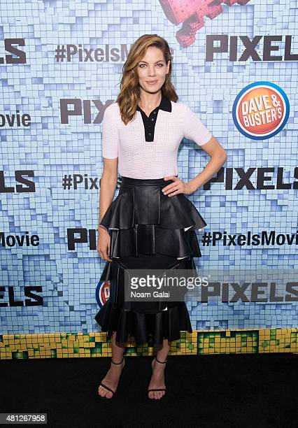 Actress Michelle Monaghan attends the 'Pixels' New York premiere at Regal EWalk on July 18 2015 in New York City