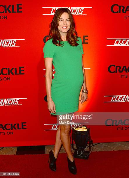 Actress Michelle Monaghan attends the premiere of Crackle's new original digital series 'Cleaners' held at the Cary Grant Theater on September 26...