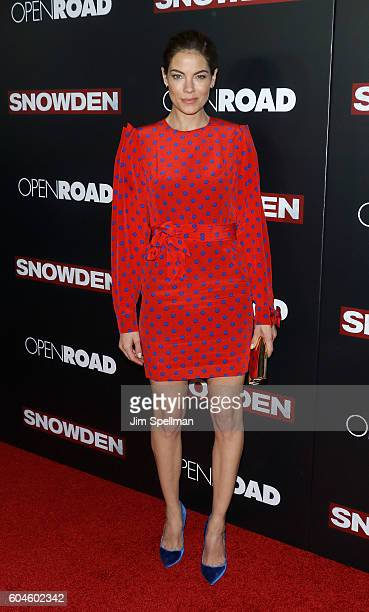 Actress Michelle Monaghan attends the 'Snowden' New York premiere at AMC Loews Lincoln Square on September 13 2016 in New York City