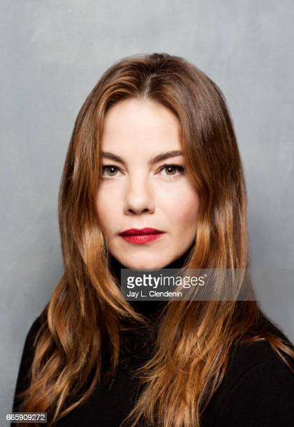 Actress Michelle Monaghan from the film Sidney is photographed at the 2017 Sundance Film Festival for Los Angeles Times on January 22 2017 in Park...