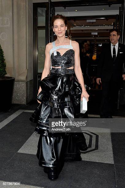Actress Michelle Monaghan leaves from The Mark Hotel for the 2016 'Manus x Machina Fashion in an Age of Technology' Met Gala on May 2 2016 in New...