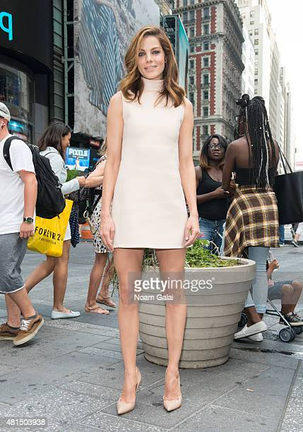 Actress Michelle Monaghan of Sony Pictures' 'Pixels' visits NASDAQ MarketSite on July 21 2015 in New York City