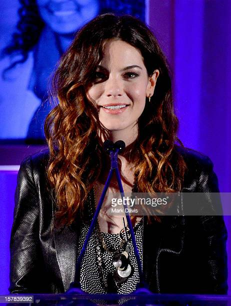 Actress Michelle Monaghan speaks onstage at the Children's Defense Fund of California 22nd Annual Beat The Odds Awards at Beverly Hills Hotel on...