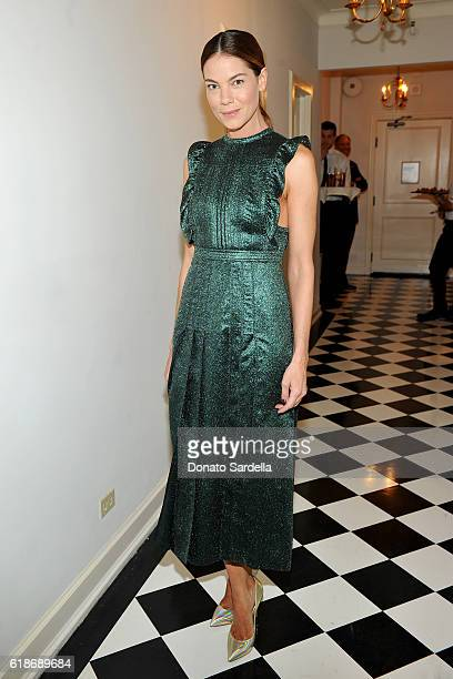 Actress Michelle Monaghan wearing Burberry attends the Vanity Fair and Burberry event celebrating Felicity Jones and the British Academy Britannia...