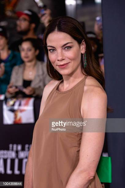Actress Michelle Monaghan who plays quotJuliaquot in Mission Impossible Fallout walks the red carpet of the US premiere at the Smithsonian National...