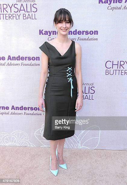 Actress Michelle Mulitz attends the 14th annual Chrysalis Butterfly Ball sponsored by Audi Kayne Anderson Lauren B Beauty and Z Gallerie on June 6...