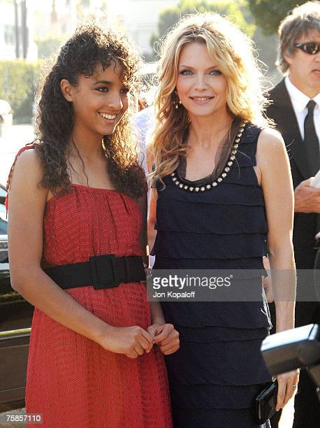 Actress Michelle Pfeiffer and daughter Claudia Rose arrive at the Los Angeles Premiere of Stardust at Paramount Studios on July 29 2007 in Los...