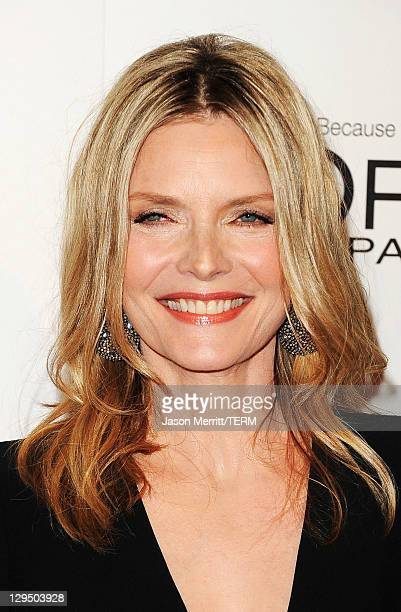 Actress Michelle Pfeiffer arrives at ELLE's 18th Annual Women in Hollywood Tribute held at the Four Seasons Hotel on October 17 2011 in Los Angeles...