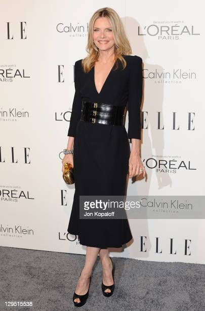 Actress Michelle Pfeiffer arrives at the 18th Annual ELLE Women In Hollywood Tribute at The Four Seasons Hotel on October 17 2011 in Beverly Hills...