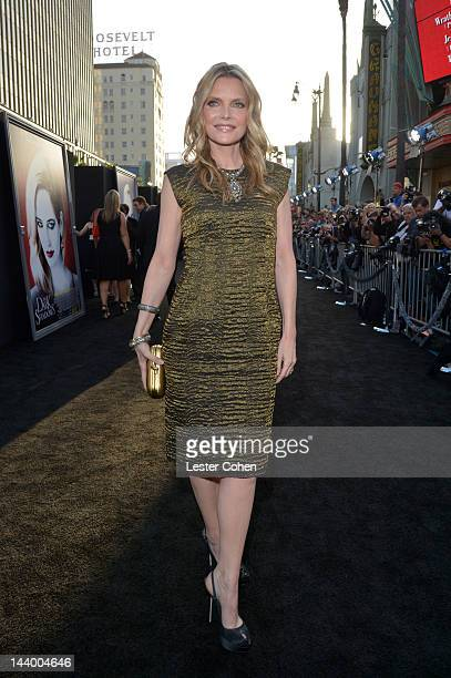 Actress Michelle Pfeiffer arrives at the Los Angeles premiere of 'Dark Shadows' held at Grauman's Chinese Theatre on May 7 2012 in Hollywood...