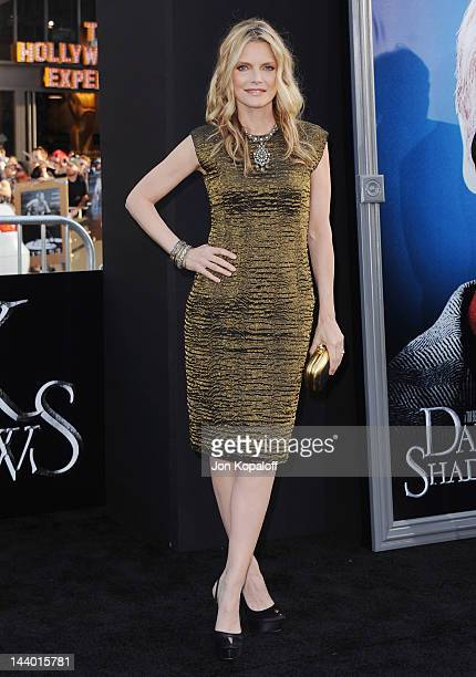 Actress Michelle Pfeiffer arrives at the Los Angeles premiere of 'Dark Shadows' at Grauman's Chinese Theatre on May 7 2012 in Hollywood California
