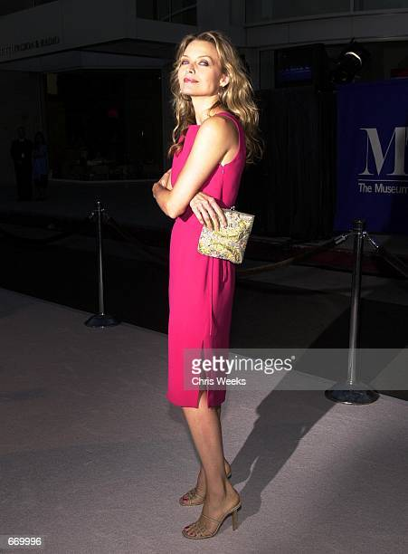 Actress Michelle Pfeiffer arrives at ''The Museum of Television and Radio's Annual Gala'' where actor Kelsey Grammer Grammer and producer Steven...