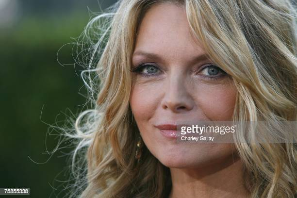 Actress Michelle Pfeiffer arrives at the premiere of Paramount Pictures' Stardust at the Paramount Studio Theater July 29 2007 in Los Angeles...