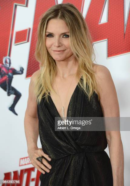 Actress Michelle Pfeiffer arrives for the Premiere Of Disney And Marvel's AntMan And The Wasp held at the El Capitan Theater on June 25 2018 in...