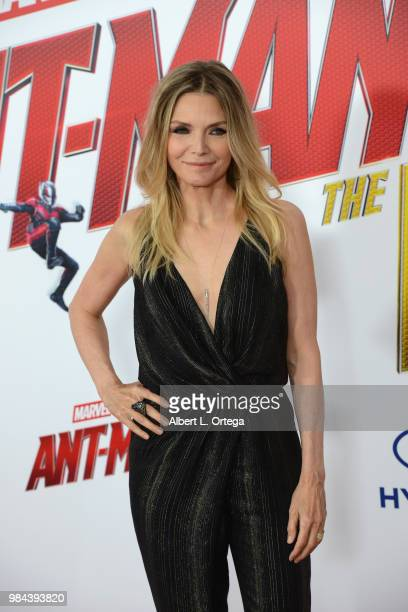 Actress Michelle Pfeiffer arrives for the Premiere Of Disney And Marvel's 'AntMan And The Wasp' held at the El Capitan Theater on June 25 2018 in...