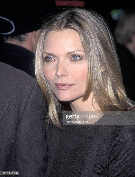 Actress Michelle Pfeiffer attends 'A Midsummer Night's Dream' Westwood Premiere on April 26 1999 at Mann Bruin Theatre in Westwood California