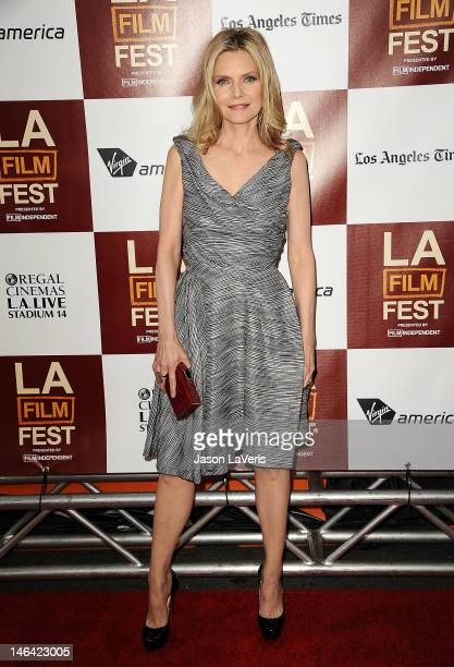 Actress Michelle Pfeiffer attends the 2012 Los Angeles Film Festival premiere of 'People Like Us' at Regal Cinemas LA LIVE Stadium 14 on June 15 2012...