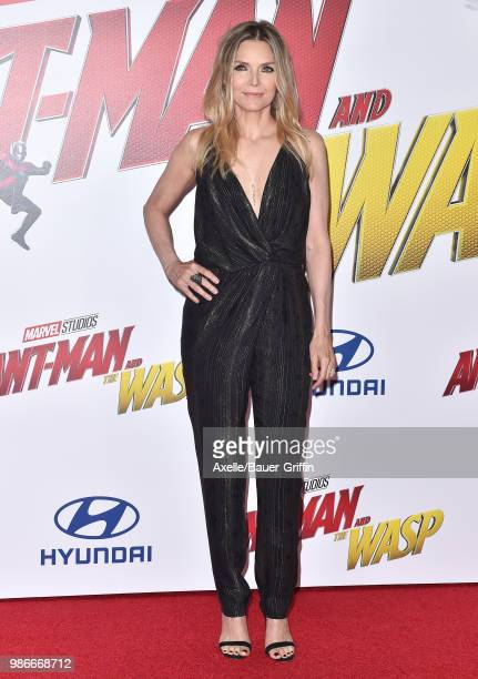 Actress Michelle Pfeiffer attends the premiere of Disney and Marvel's 'AntMan and the Wasp' at El Capitan Theatre on June 25 2018 in Hollywood...