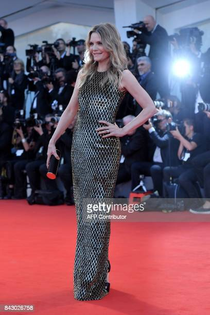 US actress Michelle Pfeiffer attends the premiere of the movie 'Mother' presented in competition at the 74th Venice Film Festival on September 5 2017...