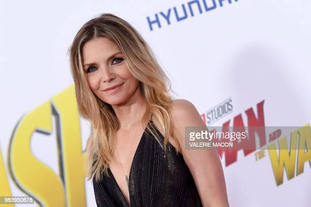 US actress Michelle Pfeiffer attends the World Premiere of Marvel Studios' AntMan and The Wasp at the El Capitan Theater on June 25 in Hollywood...