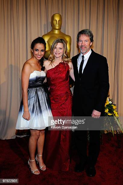 Actress Michelle Pfeiffer husband David E Kelley and daughter Claudia Rose arrive backstage at the 82nd Annual Academy Awards held at Kodak Theatre...