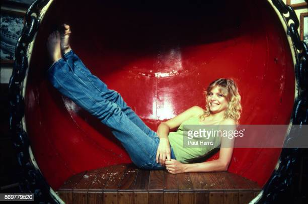 PALISADES CA JULY 5 Actress Michelle Pfeiffer lays in a ships air vent at a restaurant called Gladstone's overlooking the Pacific Ocean Her 1982 film...