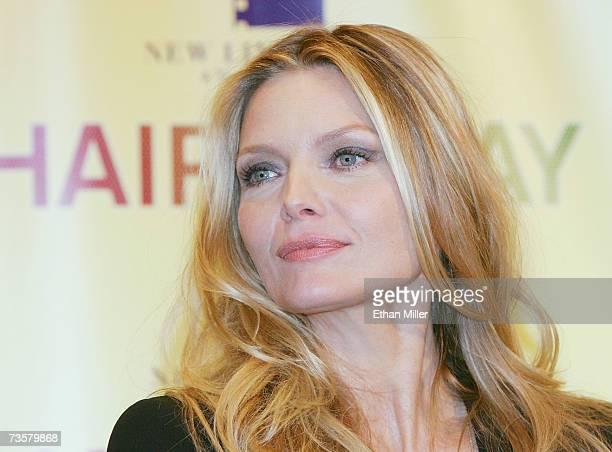 Actress Michelle Pfeiffer poses during a photocall for the movie Hairspray at the Paris Las Vegas during ShoWest the official convention of the...