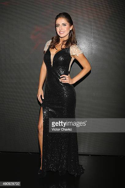 Actress Michelle Renaud attends the Pasion y Poder press conference at Live Aqua Bosques on October 1 2015 in Mexico City Mexico