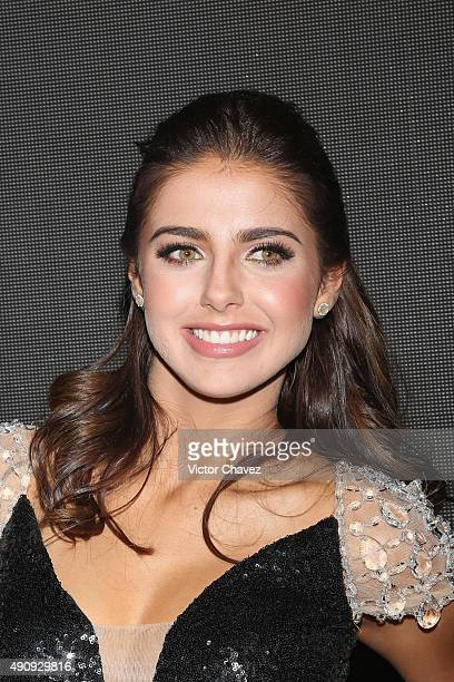 Actress Michelle Renaud attends the 'Pasion y Poder' press conference at Live Aqua Bosques on October 1 2015 in Mexico City Mexico