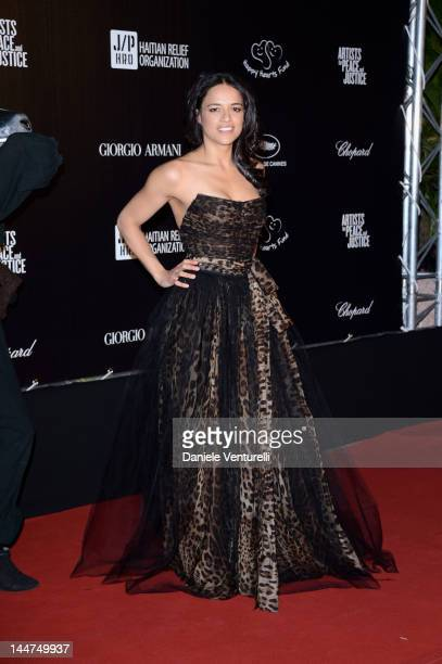 Actress Michelle Rodríguez attends the 'Haiti Carnival In Cannes' during the 65th Annual Cannes Film Festival on May 18 2012 in Cannes France