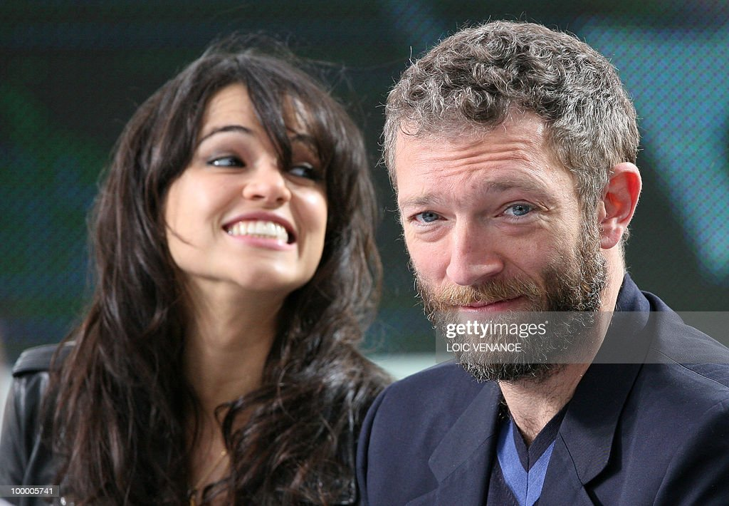 US actress Michelle Rodriguez and French actor Vincent Cassel attend the Canal+ TV show 'Le Grand Journal' at the 63rd Cannes Film Festival on May 19, 2010 in Cannes.