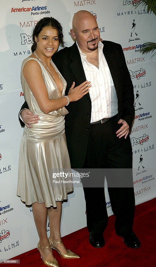 Actress Michelle Rodriguez and People en Espanol editor Richard Perez-Feria attend the 'People En Espanol' 50 Most Beautiful People Gala at Splashlight Studios May 19, 2004 in New York City.