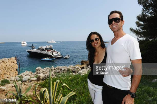 Actress Michelle Rodriguez and Producer Hamza Talhouni attend the Sea Shepherd lunch sponsored by producers Mohammed Al Turki and Hamza Talhouni...