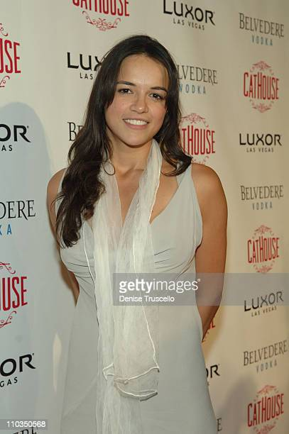Actress Michelle Rodriguez arrives at an Evening Hosted by Stacy Keibler at CatHouse at Luxor Las Vegas on May 2 2008 in Las Vegas Nevada