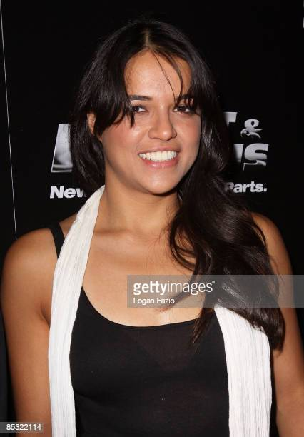 Actress Michelle Rodriguez arrives at Fast Furious release party at LIV at Fontainebleau Miami Beach on March 9 2009 in Miami Beach Florida